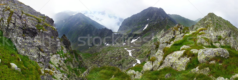 Stock photo: Panoramic view of Fagaras Mountain on summer