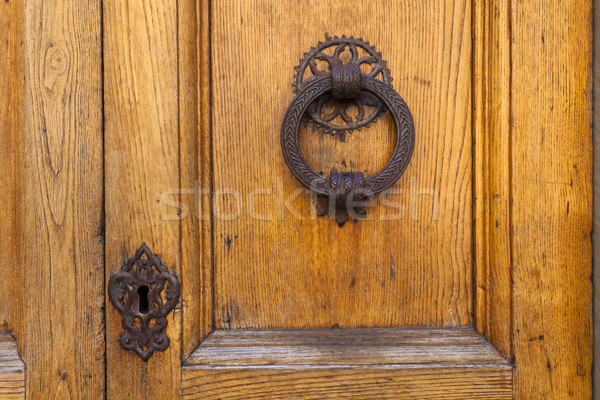 Old door knocker in Florence Stock photo © pixachi