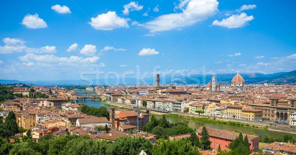 Florence városkép panorámakép kilátás katedrális mikulás Stock fotó © pixachi