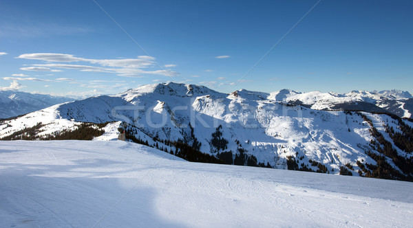 Schmitten winter ski slopes of Zell am See resort Stock photo © pixachi