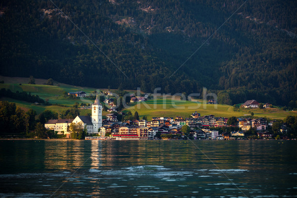 Stock photo: View of St. Wolfgang village