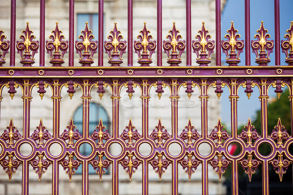 Congress Center golden fence and architecture detail in Vienna Stock photo © pixachi