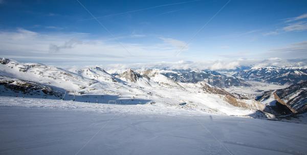 Esquiar recorrer sol neve montanha Foto stock © pixachi