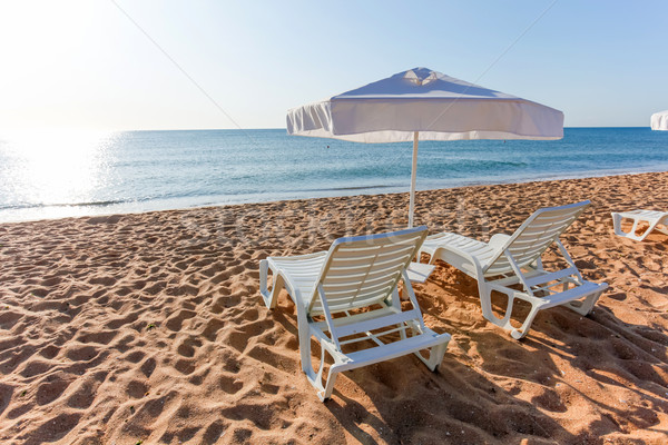 солнце пляж морем природы пейзаж Сток-фото © pixachi