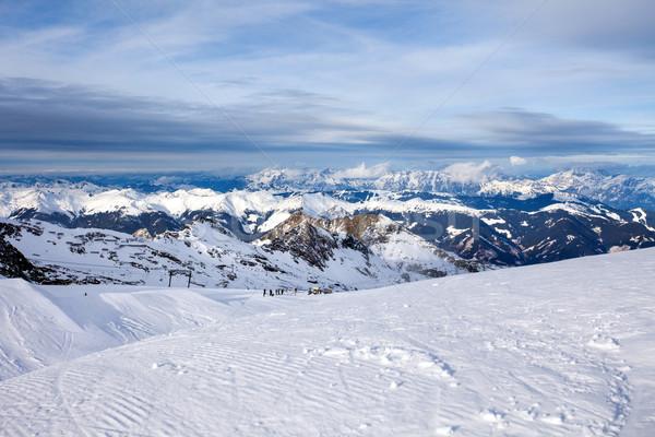 Ski Resort Spitze Sonne Schnee Berg Stock foto © pixachi