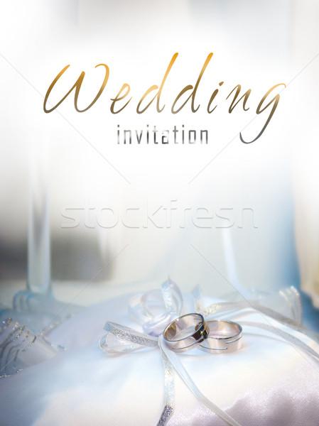 White gold wedding rings Stock photo © pixachi