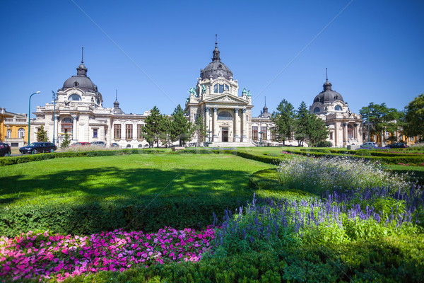 Stok fotoğraf: Spa · Budapeşte · Macaristan · Bina · yeşil