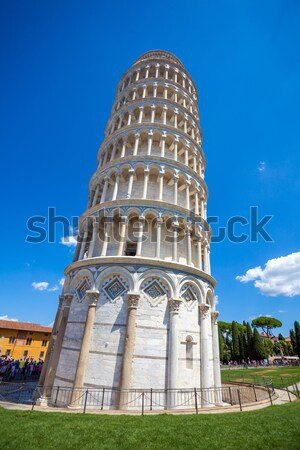 Pisa, Piazza del Duomo, with the Basilica leaning tower Stock photo © pixachi