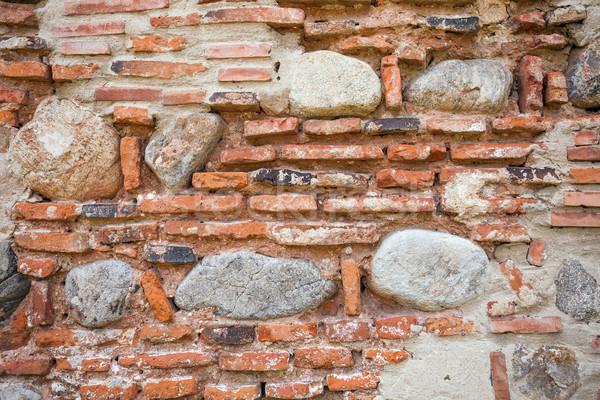деревенский старые стены кирпича камней фон Сток-фото © pixachi