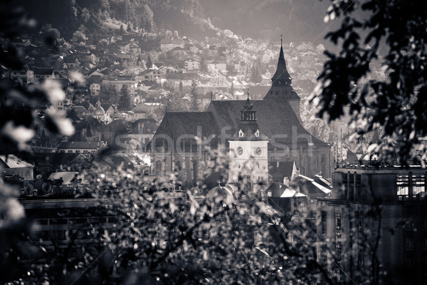 View of Brasov old city located in the central part of Romania Stock photo © pixachi