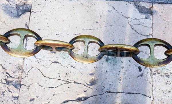 Сток-фото: металл · цепь · тротуаре · Мадрид · Испания · городского