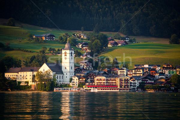 View of St. Wolfgang village Stock photo © pixachi