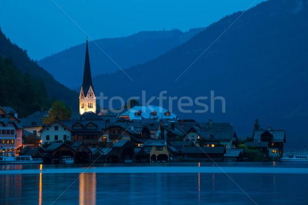 ночь мнение деревне Церкви колокола башни Сток-фото © pixachi