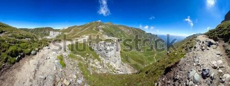 Photo stock: Panoramique · vue · été · gamme · printemps · vert