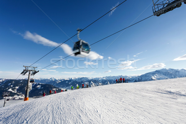 Kabel Auto Ski Resort bin sehen Stock foto © pixachi
