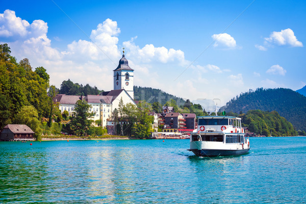 Water bus crossing Wolfgangsee Stock photo © pixachi