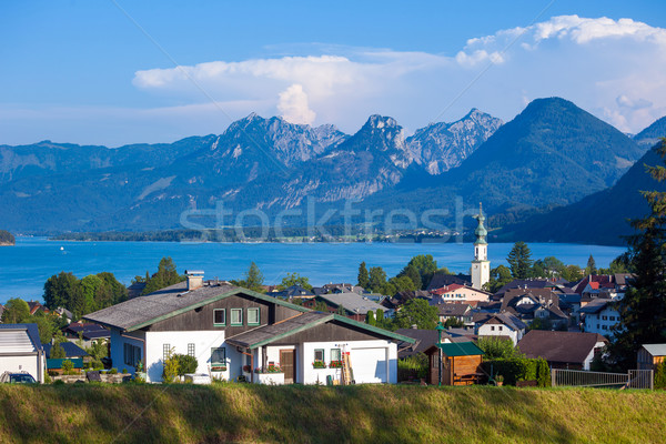 Voir lac pic alpes montagnes Autriche Photo stock © pixachi