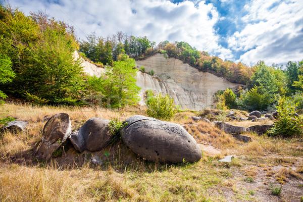 Vida crescente pedras romani Romênia 2012 Foto stock © pixachi