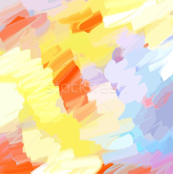 Olie geschilderd warm kleuren water textuur Stockfoto © pixachi