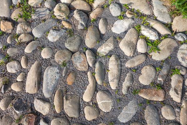 River rough stones pavement background Stock photo © pixachi