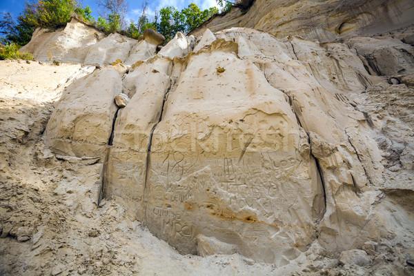 Sand rock engraved Stock photo © pixachi
