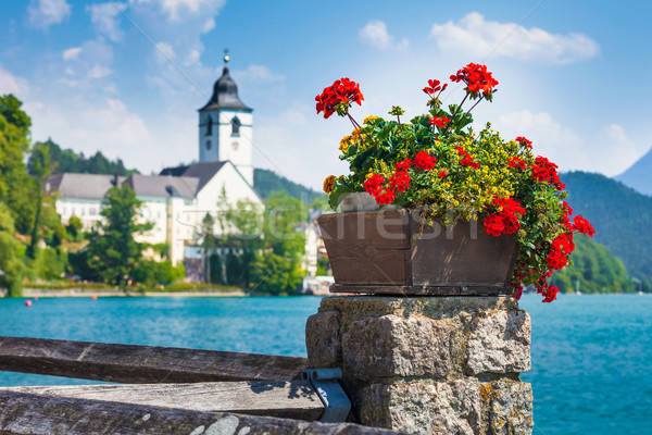 View of St. Wolfgang waterfront  Stock photo © pixachi