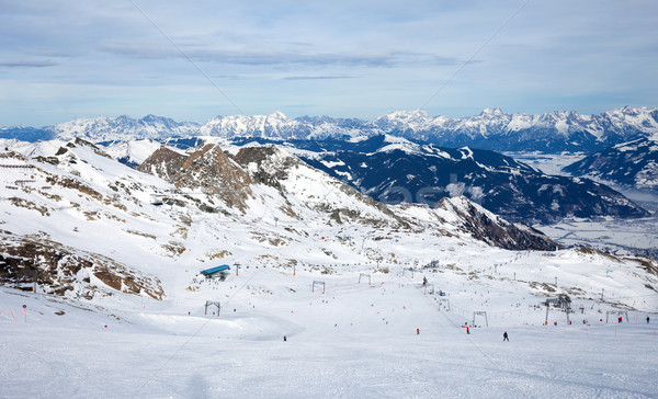 Hiver ski Resort pic paysage neige Photo stock © pixachi