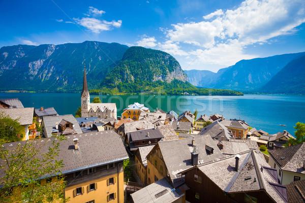 мнение деревне озеро Альпы за Австрия Сток-фото © pixachi