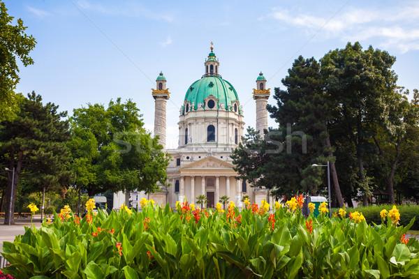St. Charles's Church in Vienna Stock photo © pixachi