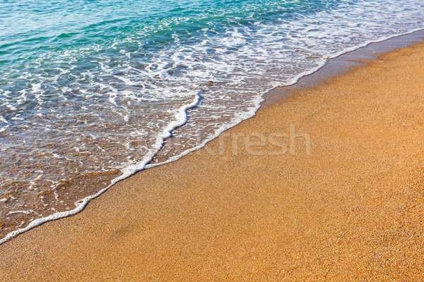 Soft wave of the sea on the sandy beach Stock photo © pixachi