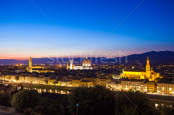 Stock photo: Florence cityscape at dawn