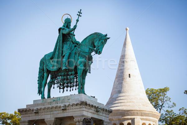 König Statue Kirche Budapest Ungarn Stock foto © pixachi