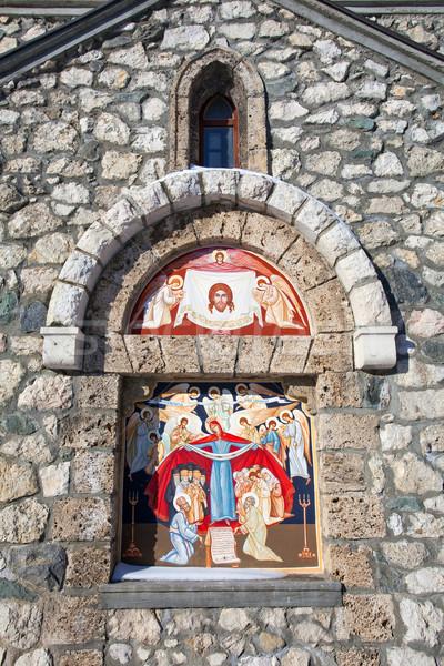 Dini boyama kilise kepek roma Stok fotoğraf © pixachi