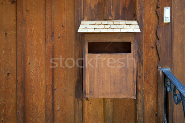 Holz Dorf Österreich home Mail Schreiben Stock foto © pixachi