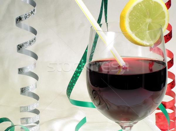 Beber vidrio limón fiesta ir tiempo Foto stock © pixelman