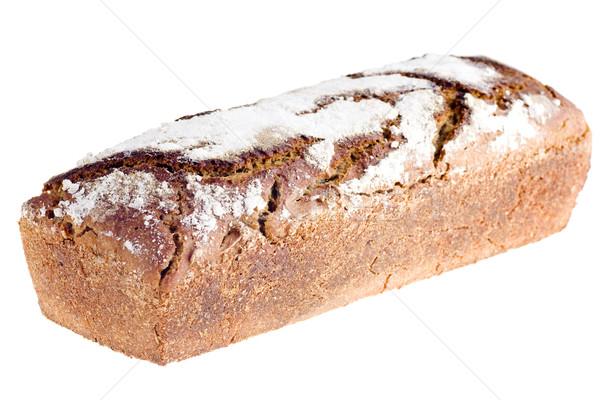 Casero pan aislado blanco salud país Foto stock © pixelman