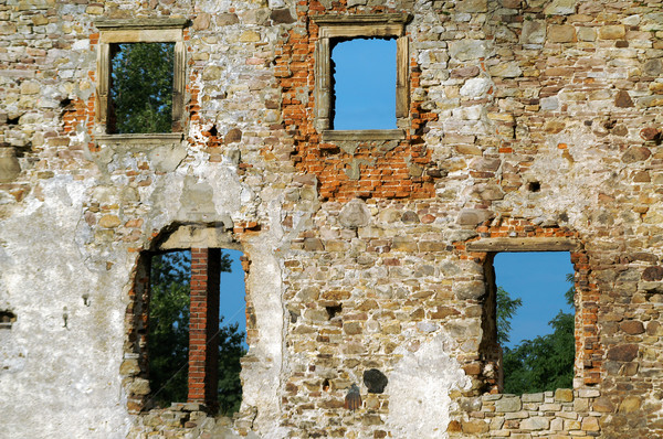 Old hole wall bricks. Stock photo © pixelman