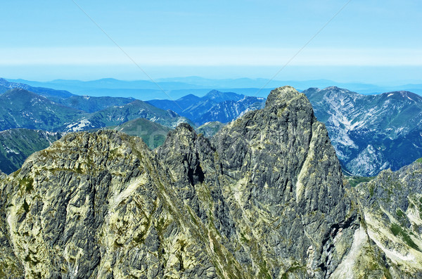 View naTatry western and red peaks of Poland Stock photo © pixelman