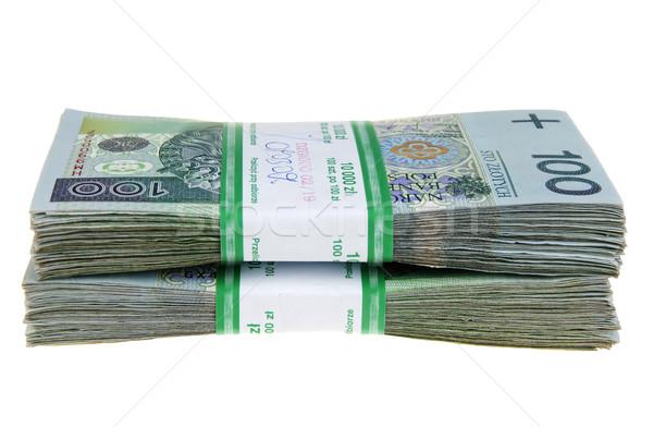 Negócio papel financiar banco branco Foto stock © pixelman