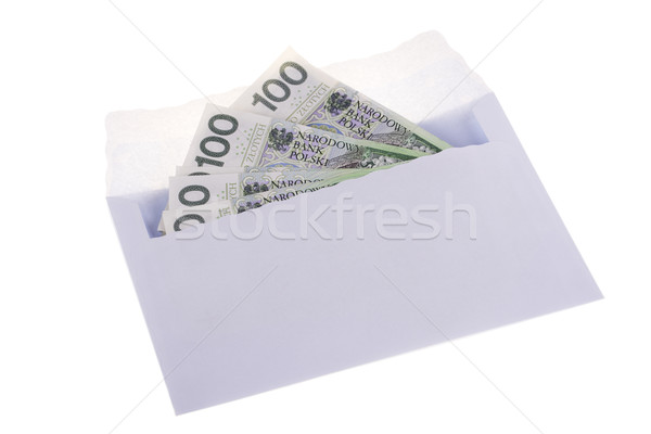 Polish currency in the envelope Stock photo © pixelman
