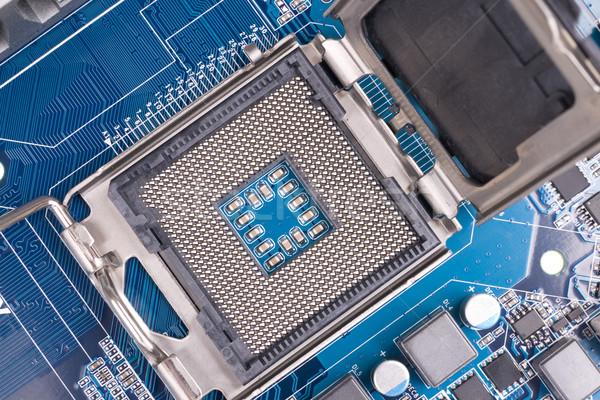 CPU enchufe ordenador tecnología oro ingeniería Foto stock © pixelman