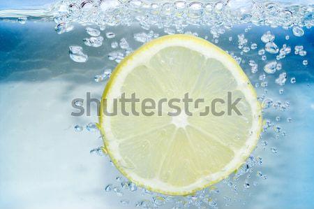 Bleu eau air bulle nature Photo stock © pixelman