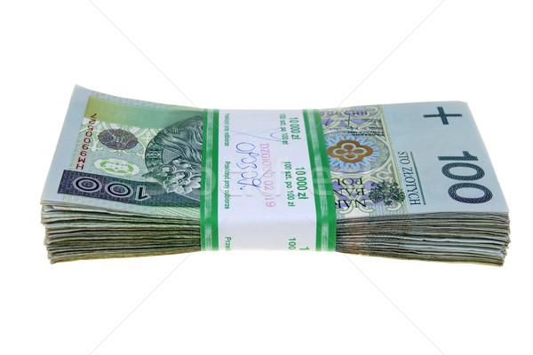 Tien duizend business papier financieren Stockfoto © pixelman