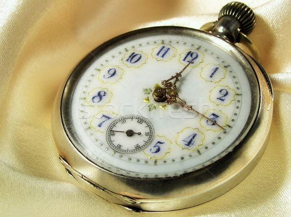 Relógio de bolso velho ver antigo museu macro Foto stock © pixelman