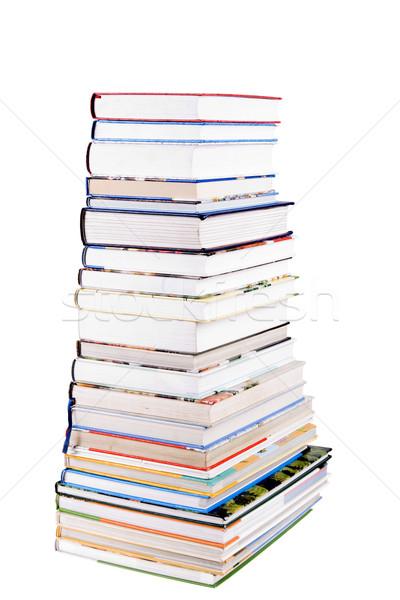 Colorido livros isolado branco fundo Foto stock © pixelman