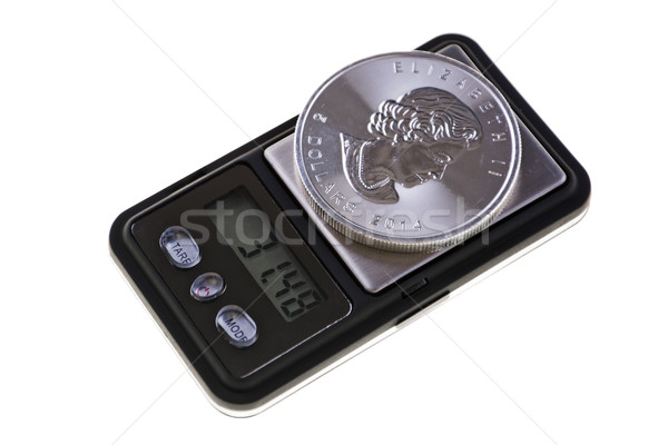 Stock photo: Canadian Silver Coin Investment, one ounce troy