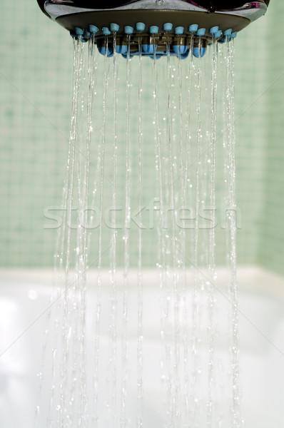 Doccia primo piano luce vasca da bagno acqua texture Foto d'archivio © pixelman