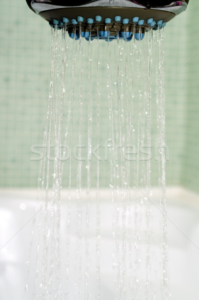 Chuveiro luz banheira água textura Foto stock © pixelman