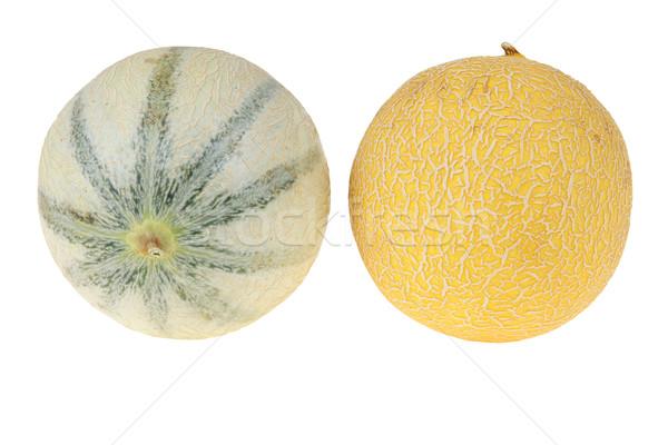 Melón grande amarillo aislado blanco Foto stock © pixelman
