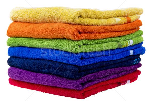 Colorido toalhas algodão tecido estância termal banho Foto stock © pixelman